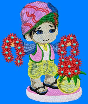 indianboy006 embroidery design