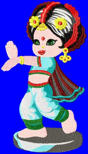 indiangirls004 embroidery design