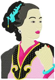 Japanese Beauty 1 embroidery design