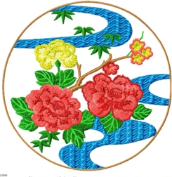 japaneseornament006 embroidery design