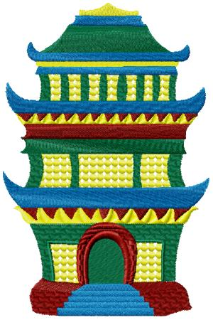 Japanese Houses003 embroidery design