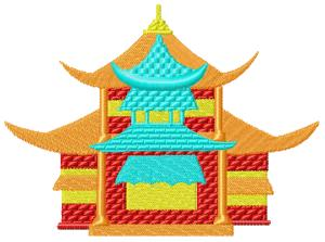 Japanese Houses005 embroidery design