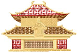 Japanese Houses008 embroidery design