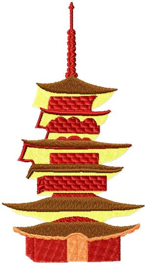 Japanese Houses009 embroidery design