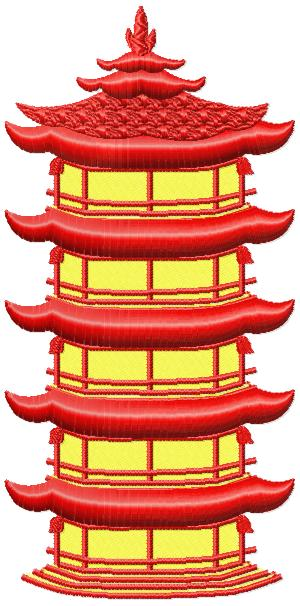 Japanese Houses010 embroidery design