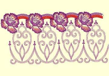 Lace Ribbon002 embroidery design