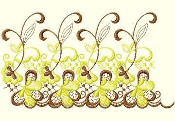 Lace Ribbon007 embroidery design