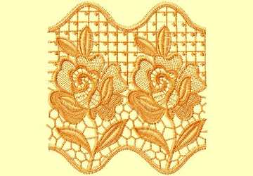 Lace Ribbon014 embroidery design
