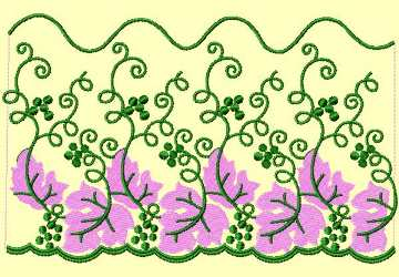 Lace Ribbon015 embroidery design