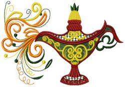 Magic lamp embroidery design 001