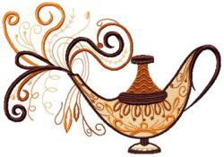 Magic lamp embroidery design 002
