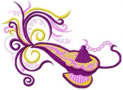 Magic lamp embroidery design 006
