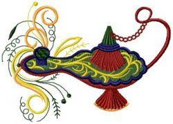 Magic lamp embroidery design 010