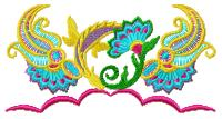oriental Ribbons embroidery designs