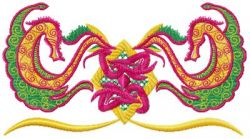 oriental Ribbons 007 embroidery design