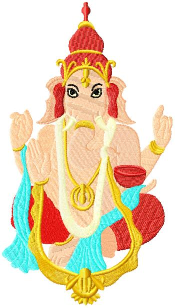 Lord Ganesh embroidery design