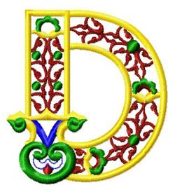 oletter0d embroidery design