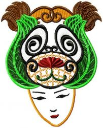 Wild Applique Face 005