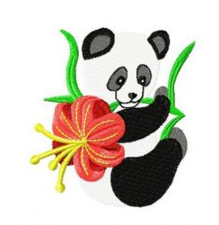 Chinese Panda Set embroidery design