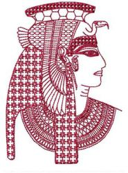 Queens embroidery design