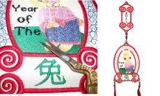 Chinese Rabbit Decoration embroidery design