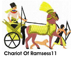 Chariot Of Ramsess 11 embroidery design