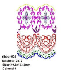 Chinese Ribbon 002 embroidery design