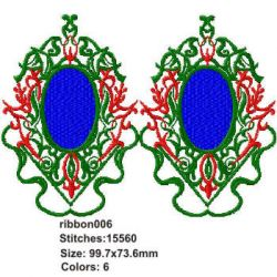 Chinese Ribbon 006 embroidery design