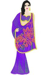 Indian Sarees 03 embroidery design