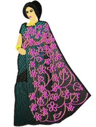 Indian Sarees 07 embroidery design