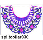 Split collar 030 embroidery design
