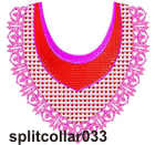 Split collar 033 embroidery design