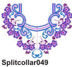 Split collar 049 ― Oriental-embroidery store for embroidery designs