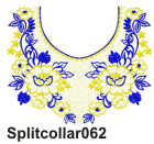 Split collar 062 embroidery design